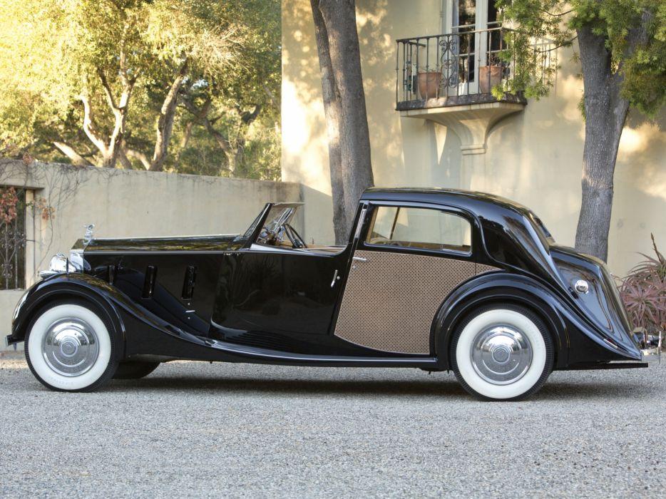1938 Rolls Royce Phantom III Sedanca de Ville by Park Ward luxury retro  t wallpaper