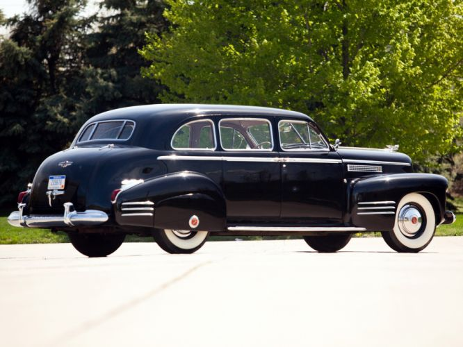 1941 Cadillac Fleetwood Seventy-Five Touring Sedan (41-7519) retro luxury g wallpaper