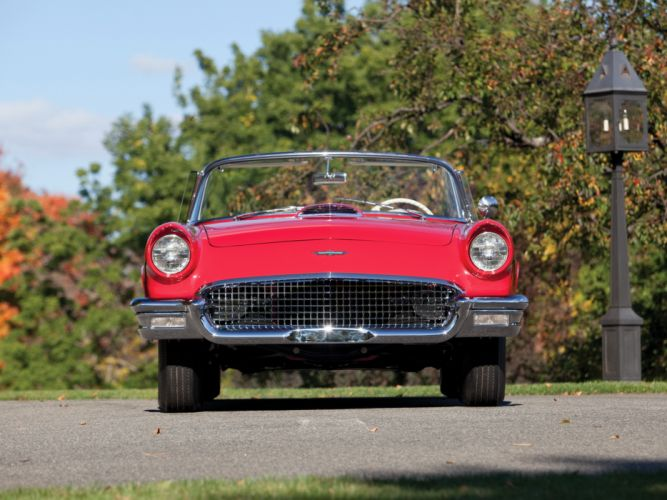 1957 Ford Thunderbird Special Supercharged 312 300HP (40A) retro muscle supercar g wallpaper