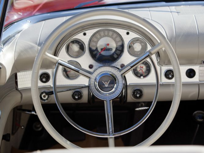 1957 Ford Thunderbird Special Supercharged 312 300HP (40A) retro muscle supercar interior f wallpaper