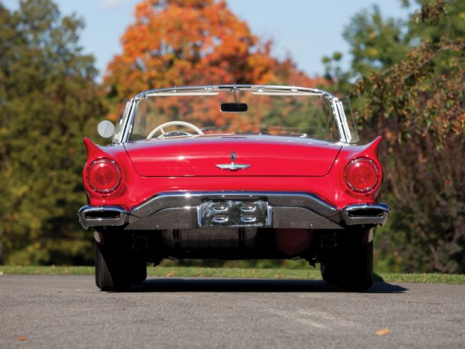 1957 Ford Thunderbird Special Supercharged 312 300HP (40A) retro muscle supercar r wallpaper