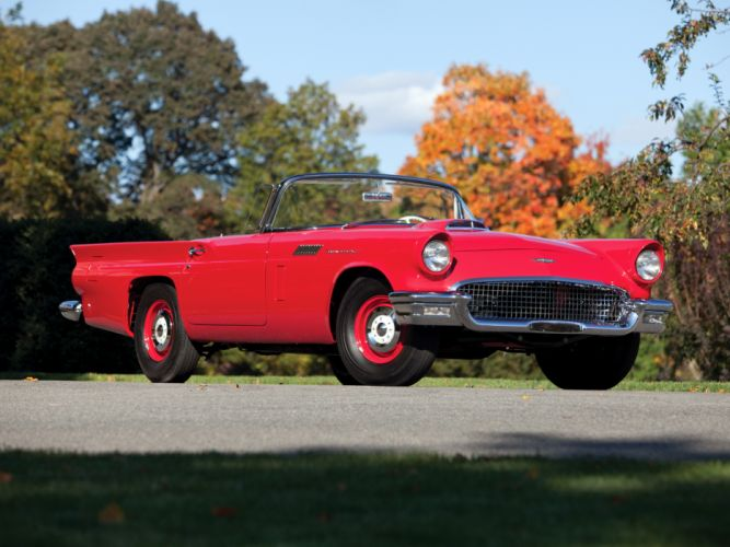 1957 Ford Thunderbird Special Supercharged 312 300HP (40A) retro muscle supercar t wallpaper