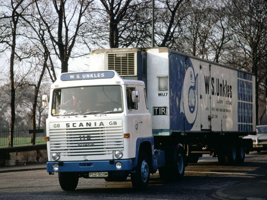 1968 Scania LB110 UK-spec semi tractor classic       g wallpaper