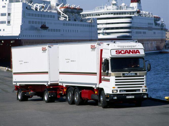 1988 Scania R143 6x2 Streamline Topsleeper Cab semi tractor f wallpaper
