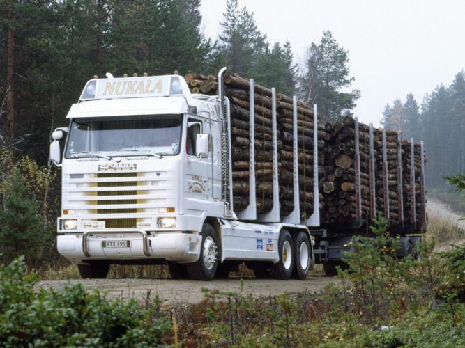 1988 Scania R143H 6x4 Timber Truck semi tractor f wallpaper