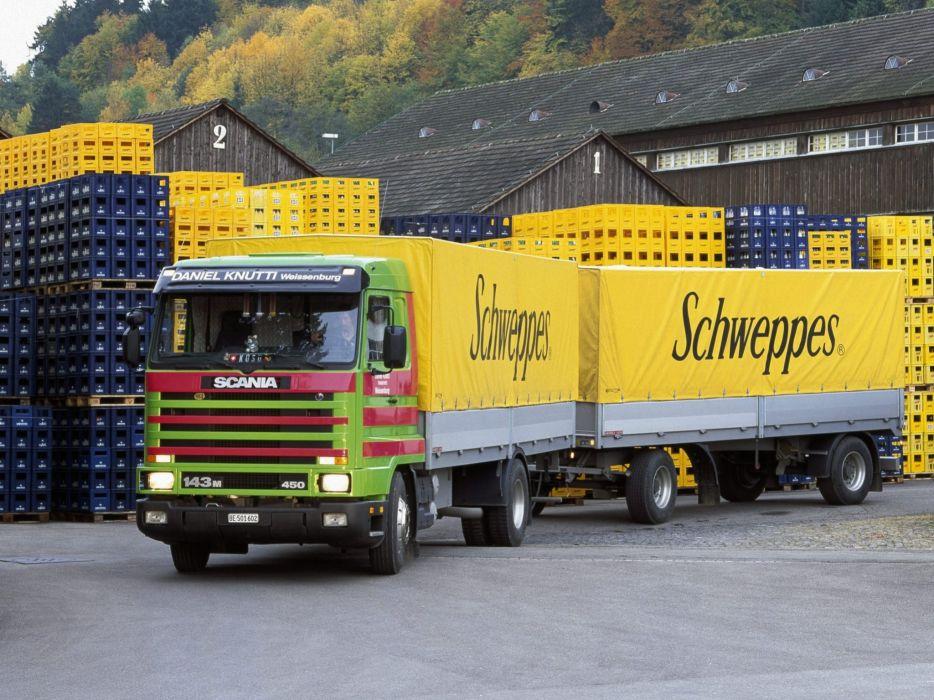 1988 Scania R143M 4x2 semi tractor  d wallpaper
