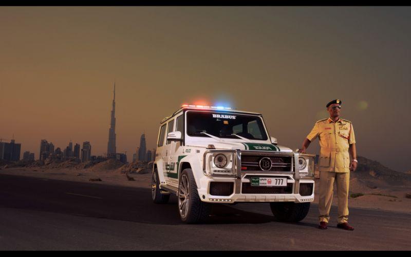 2013 Brabus Mercedes Benz G700 Widestar Police (W463) emergency tuning suv f wallpaper