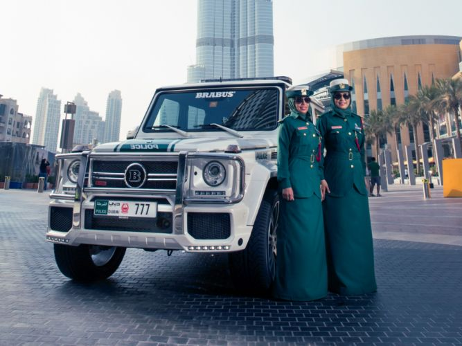 2013 Brabus Mercedes Benz G700 Widestar Police (W463) emergency tuning suv f wallpaper