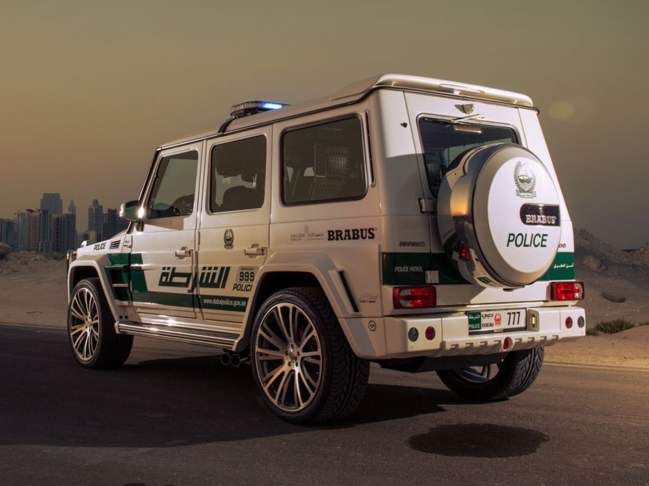 2013 Brabus Mercedes Benz G700 Widestar Police (W463) emergency tuning suv  r wallpaper