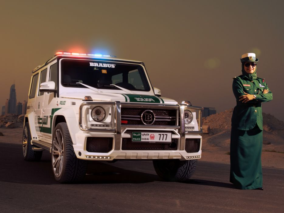 2013 Brabus Mercedes Benz G700 Widestar Police (W463) emergency tuning suv e wallpaper