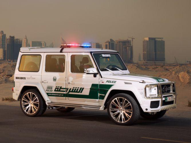 2013 Brabus Mercedes Benz G700 Widestar Police (W463) emergency tuning suv wr wallpaper