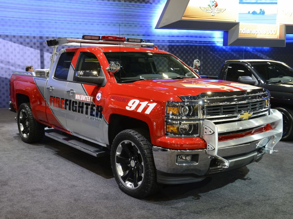 2013 Chevrolet Silverado Volunteer Firefighter Concept firetruck emergency pickup    f wallpaper