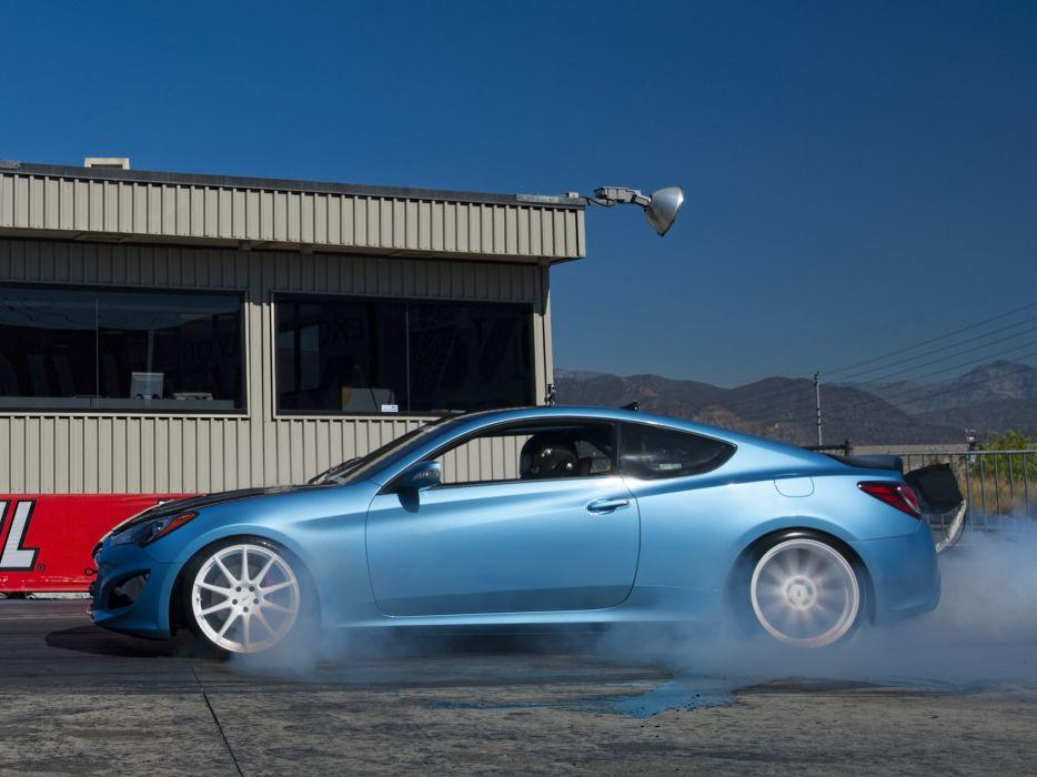2013 Hyundai Genesis Coupe by Bisimoto-Engineering tuning burnout   h wallpaper