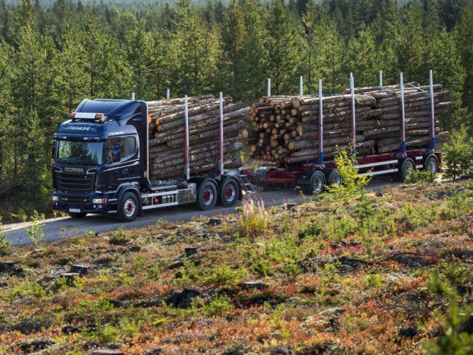 2014 Scania R730 6x4 Streamline TimberTruck semi tractor f wallpaper