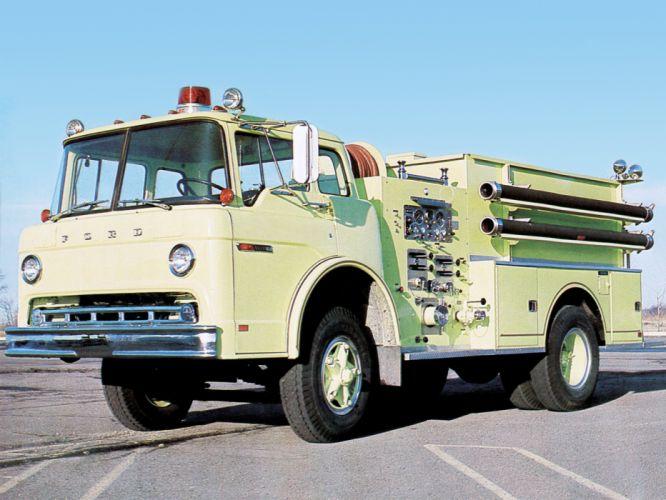 Ford C-750 Maxim Firetruck emergency classic f wallpaper