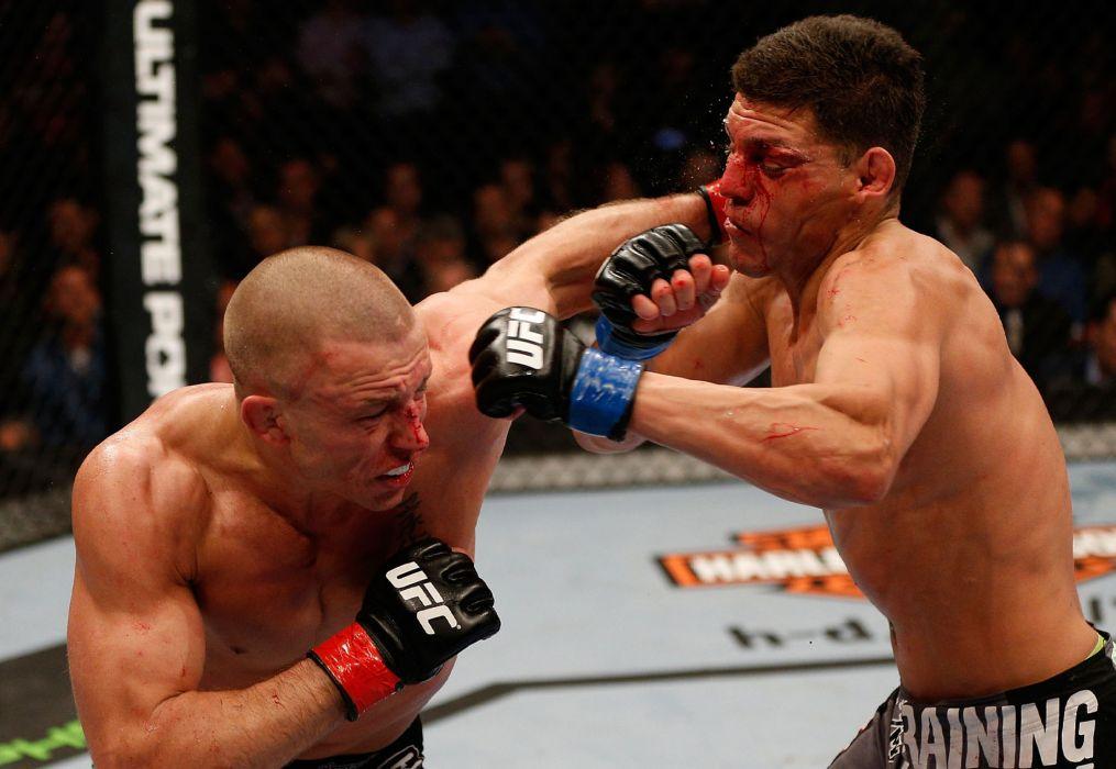 UFC mma battle martial arts action blood  f wallpaper