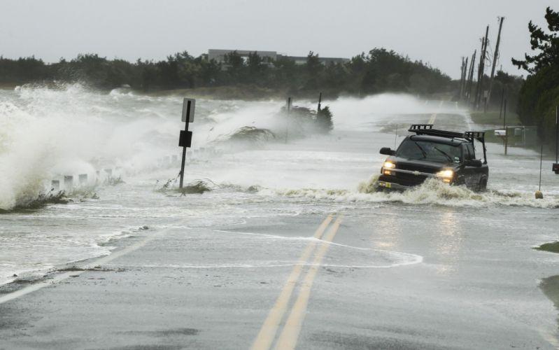 HURRICANE SANDY storm disaster weather clouds ocean waves f wallpaper