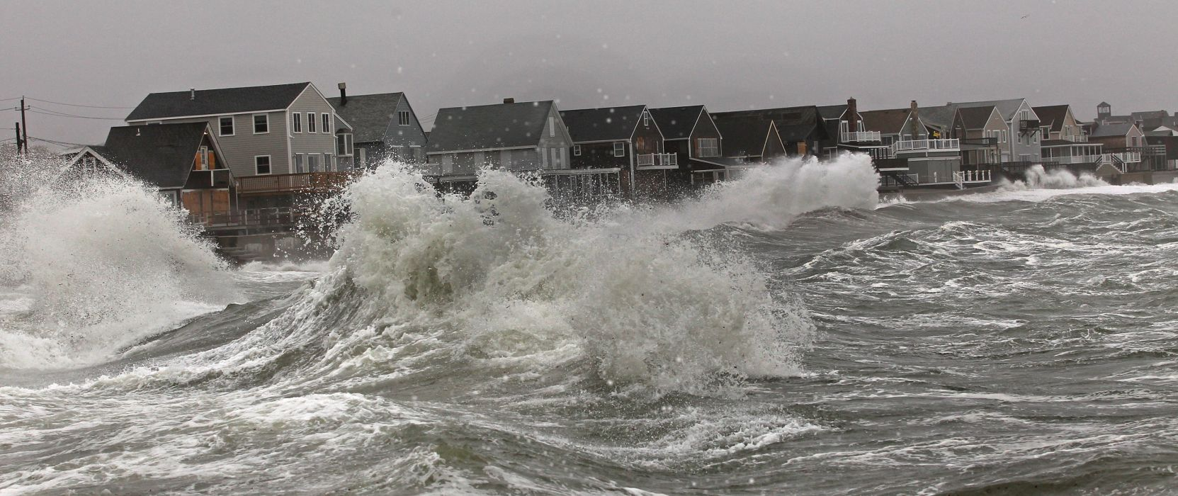 HURRICANE SANDY storm disaster weather clouds ocean waves house building    g wallpaper