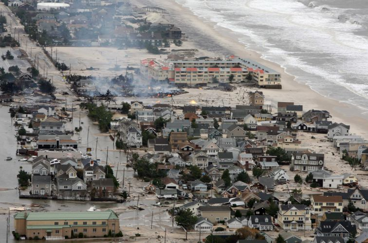 HURRICANE SANDY storm disaster weather destruction house building ocean city g wallpaper