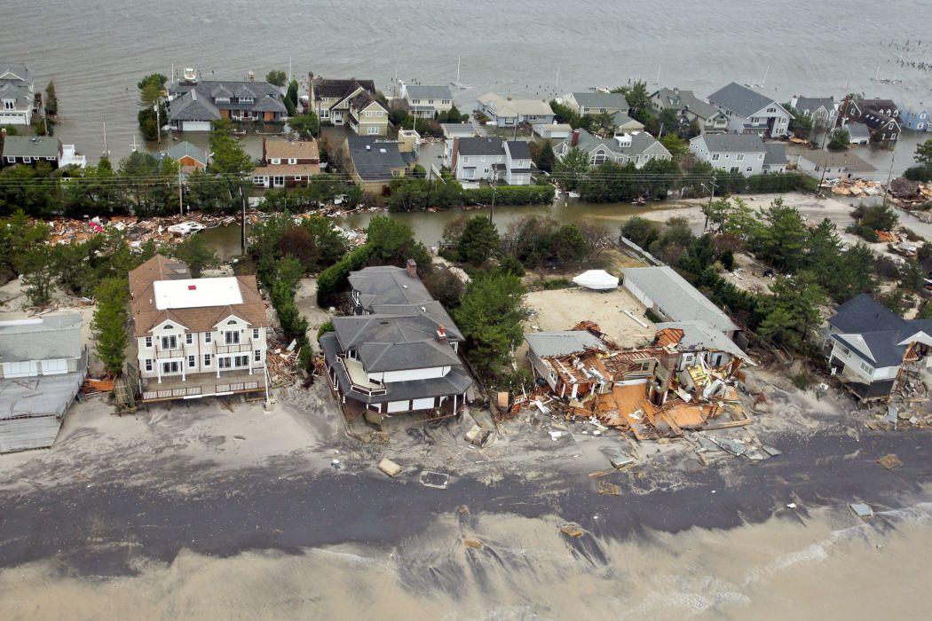 HURRICANE SANDY storm disaster weather destruction house building  r wallpaper