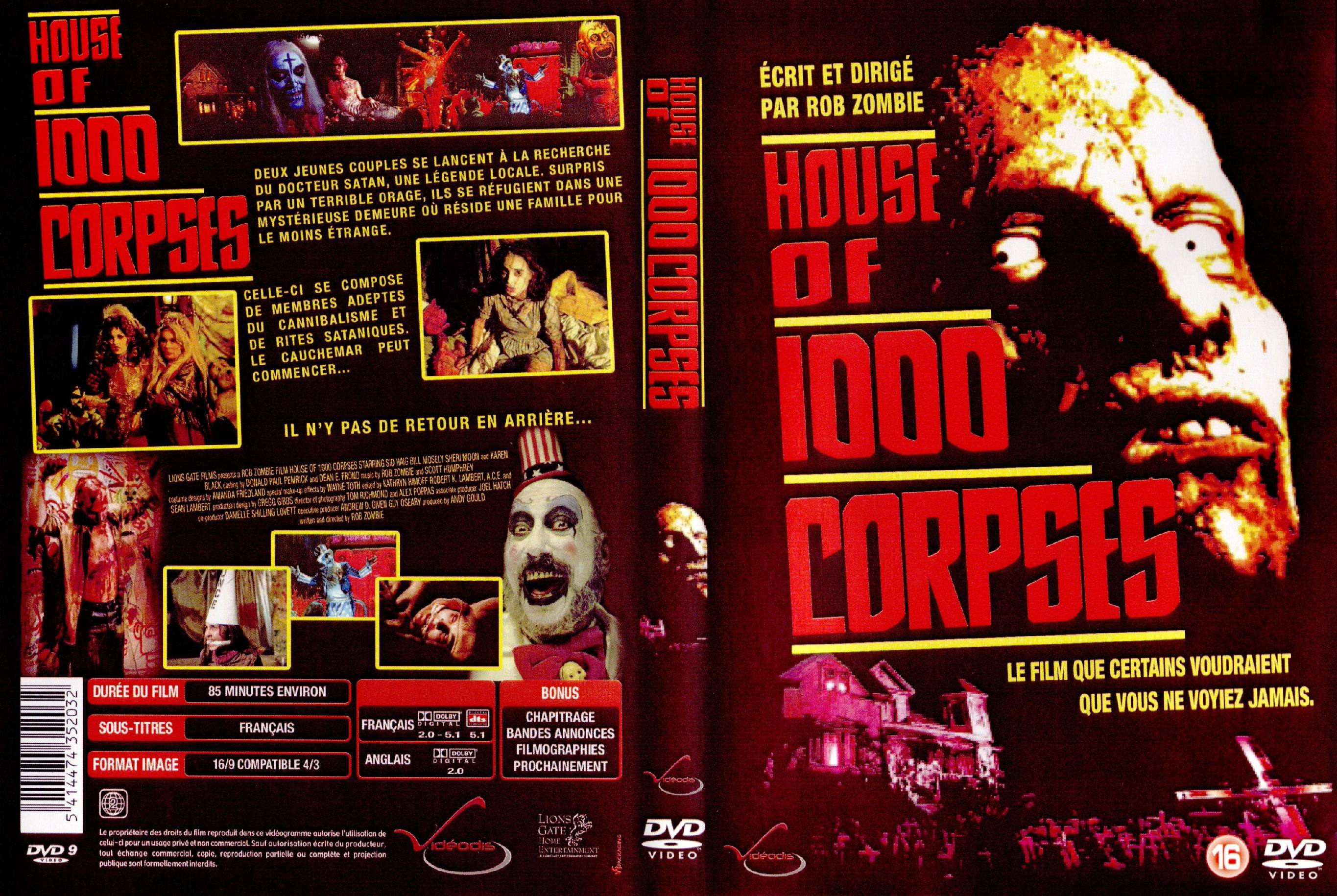 House Of 1000 Corpses Dark Horror Poster French F Wallpaper