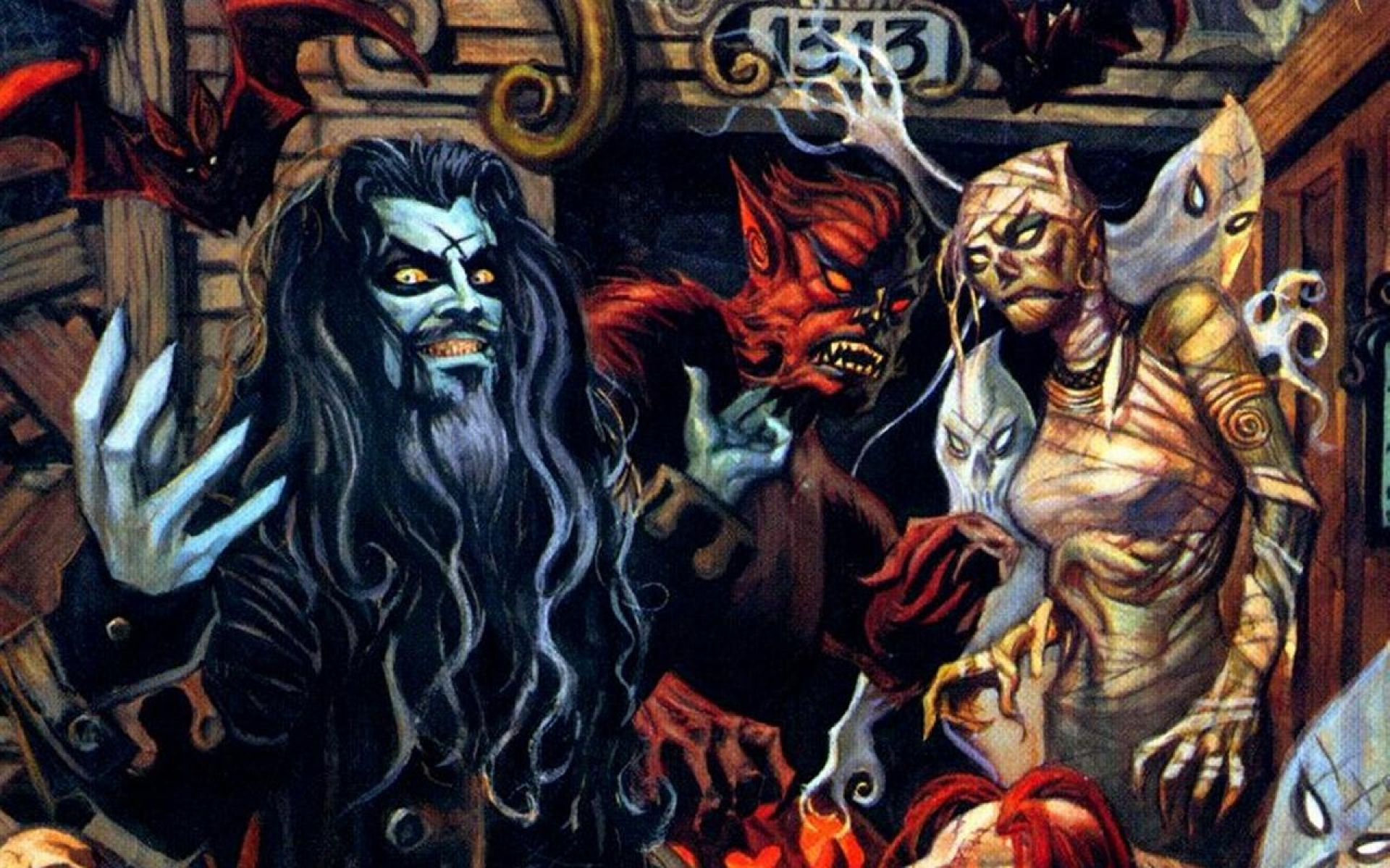Zombie Artwork Wallpaper ROB ZOMBIE ART dark mo...