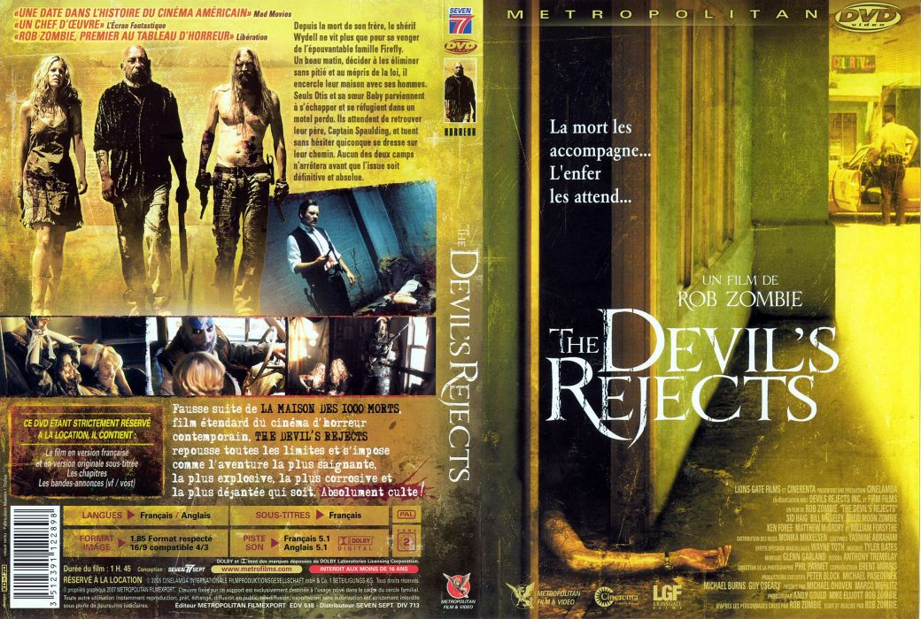 THE DEVILS REJECTS dark horror poster french         g wallpaper