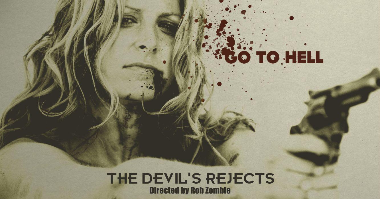 THE DEVILS REJECTS dark horror poster blood     g wallpaper