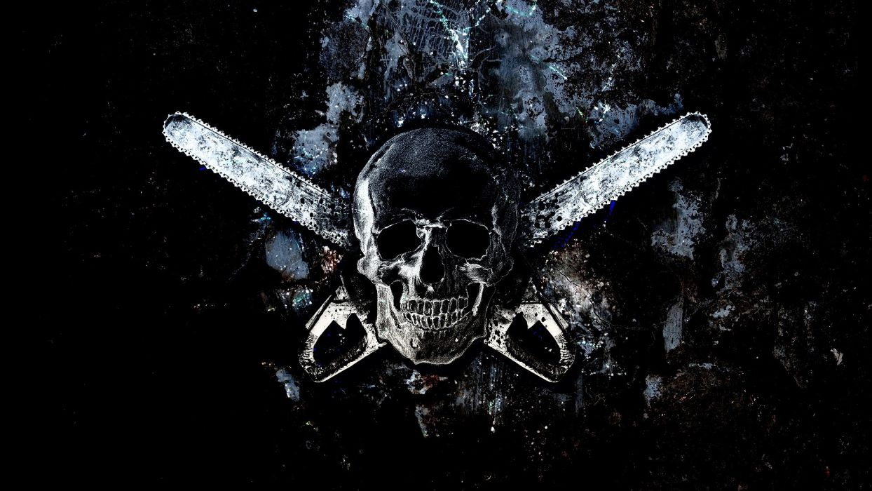 TEXAS CHAINSAW dark horror skull   b wallpaper