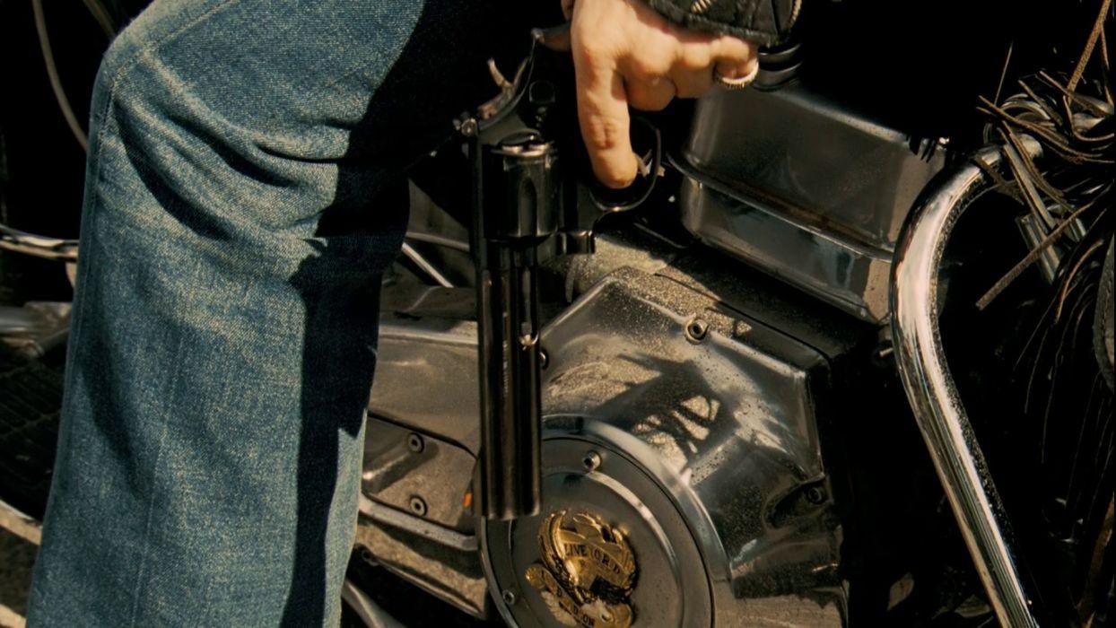 TEXAS CHAINSAW dark horror weapon gun pistol     f wallpaper
