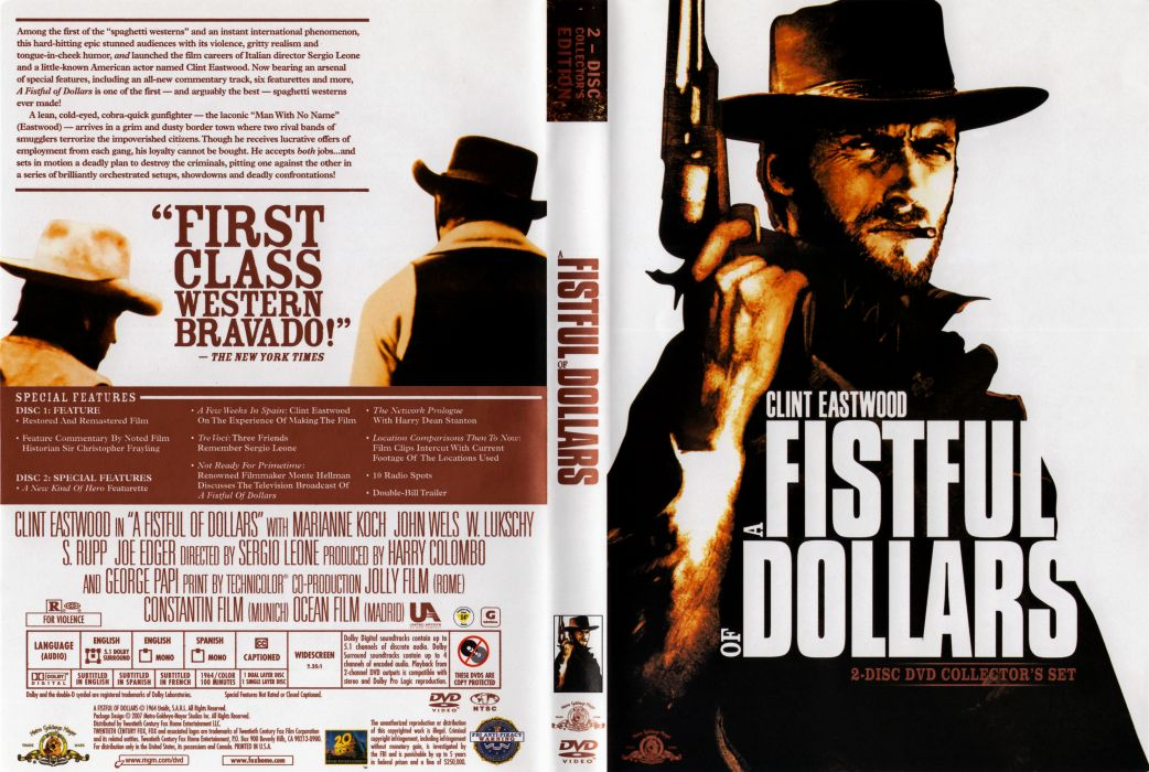 A FISTFUL OF DOLLARS western clint eastwood poster     f wallpaper