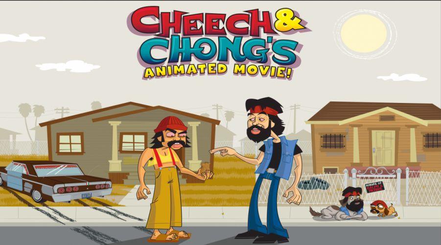 CHEECH AND CHONG comedy humor marijuana weed 420 h wallpaper