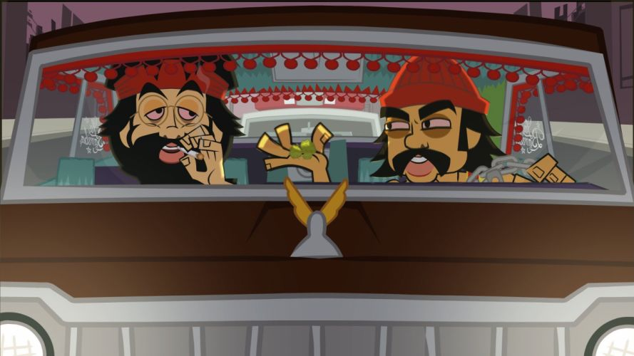 CHEECH AND CHONG UP IN SMOKE comedy humor marijuana weed 420 h wallpaper