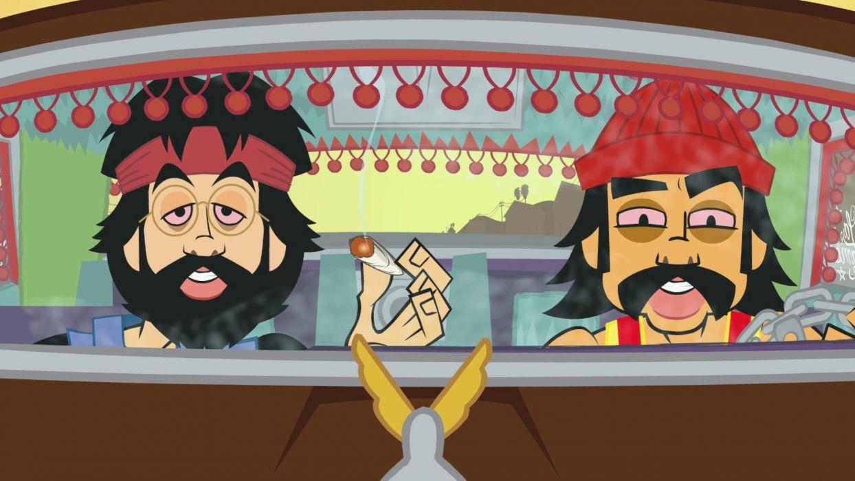 CHEECH AND CHONG UP IN SMOKE comedy humor marijuana weed 420  tw wallpaper
