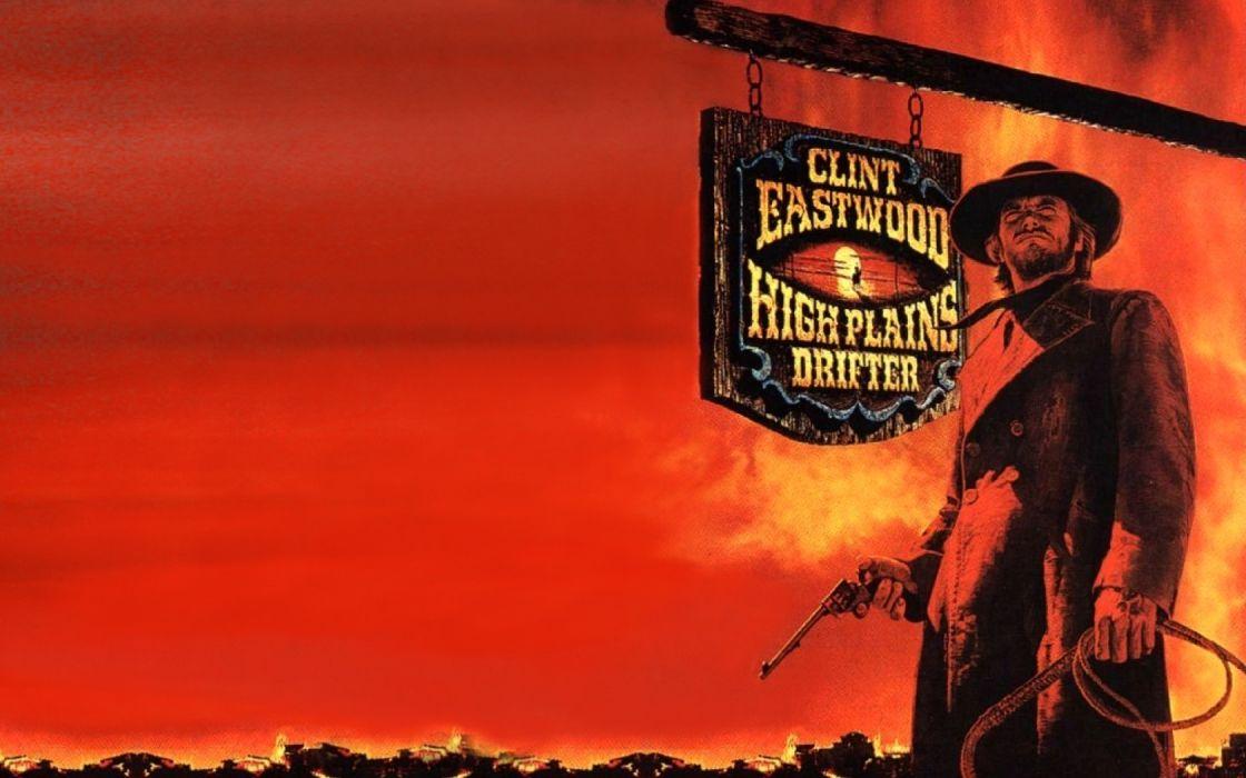 High Plains Drifter Western Clint Eastwood H Wallpaper