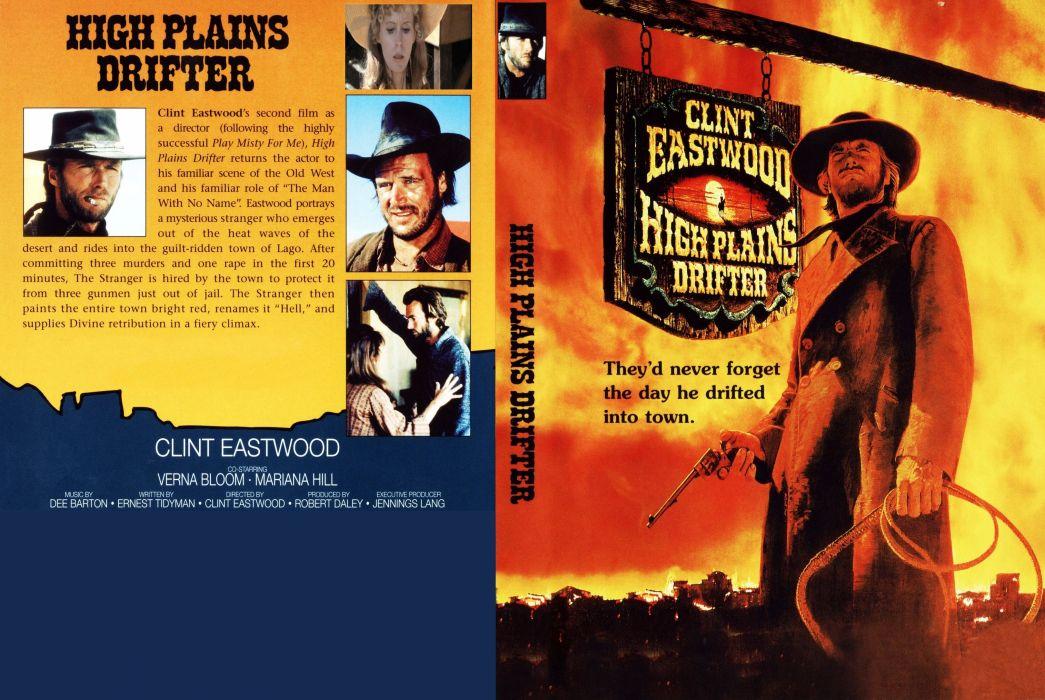 HIGH PLAINS DRIFTER western clint eastwood poster     r wallpaper
