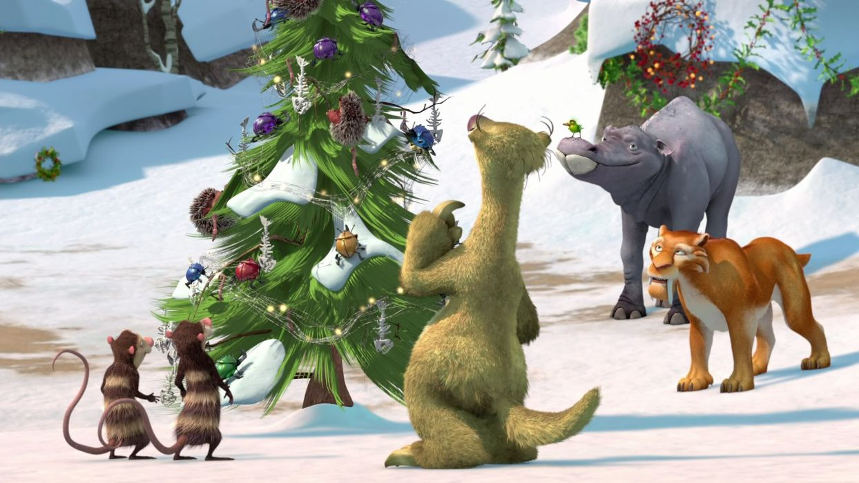ice age a mammoth christmas movie h wallpaper - Ice Age Mammoth Christmas