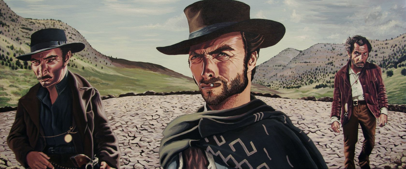 The Good The Bad And The Ugly Western Clint Eastwood G Wallpaper