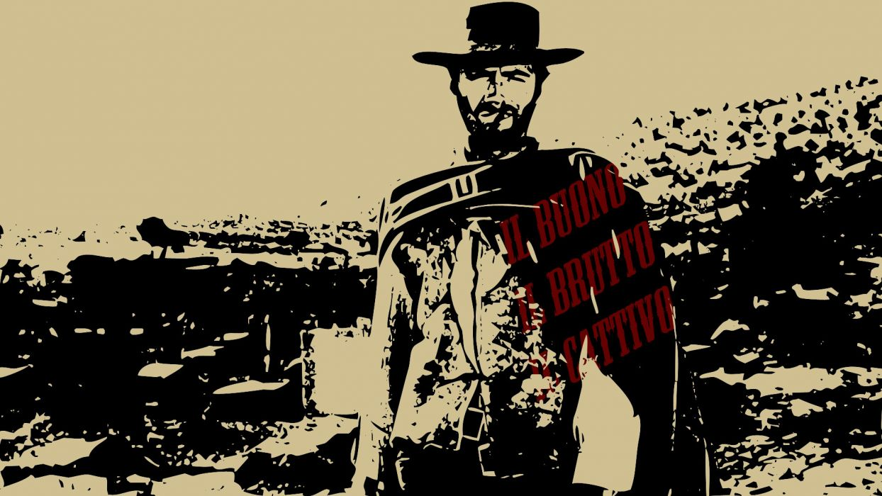 THE GOOD THE BAD AND THE UGLY western clint eastwood  rw wallpaper