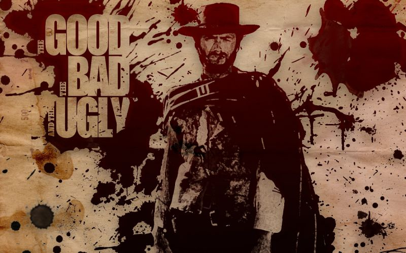THE GOOD THE BAD AND THE UGLY western clint eastwood poster g wallpaper