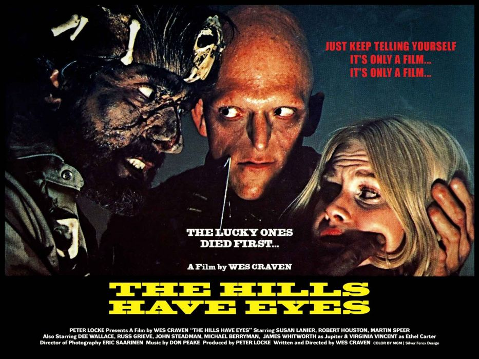 THE HILLS HAVE EYES dark horror poster    e wallpaper