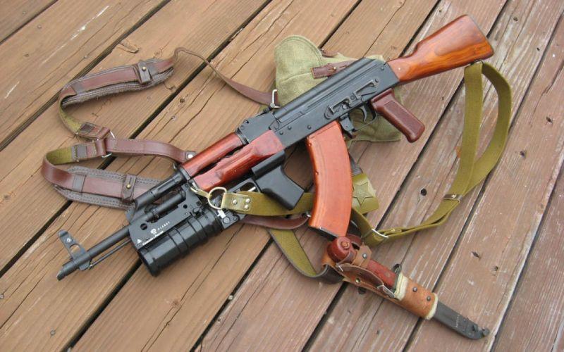 AK-47 Kalashnikov assault rifle wallpaper