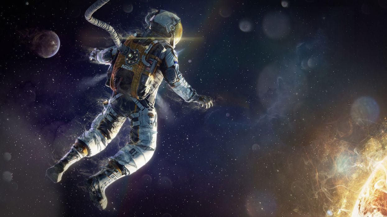 Space Demonic Art Hd Wallpaper: Art Astronaut Space Star Wallpaper