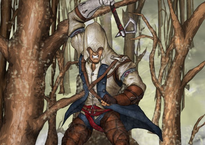 Assassin's Creed 3 Warriors Hood headgear Games wallpaper