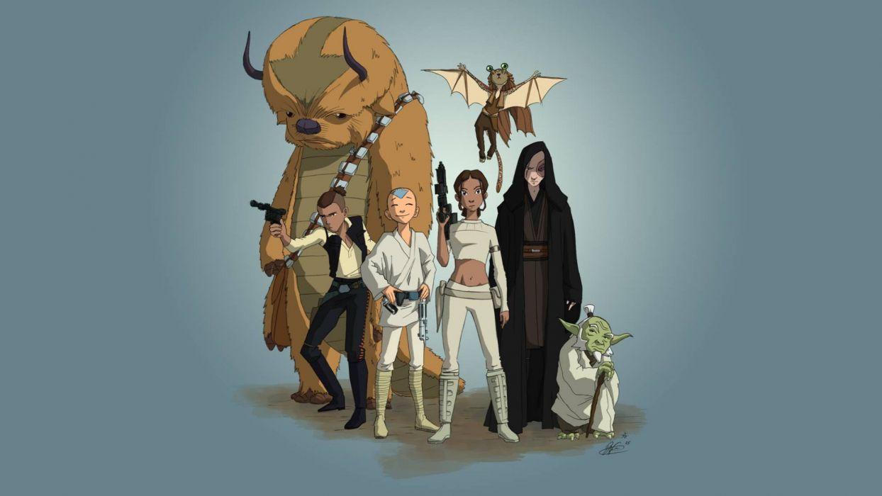Avatar The Last Airbender Star Wars Wallpaper