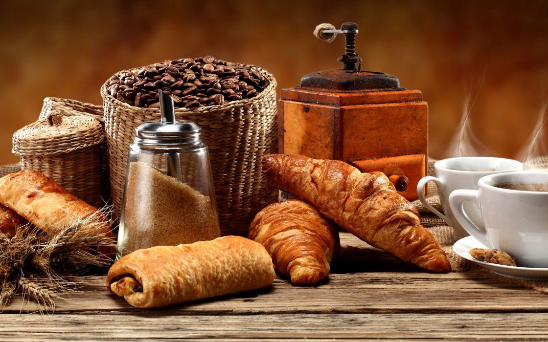 Baking Buns Coffee Grain wallpaper