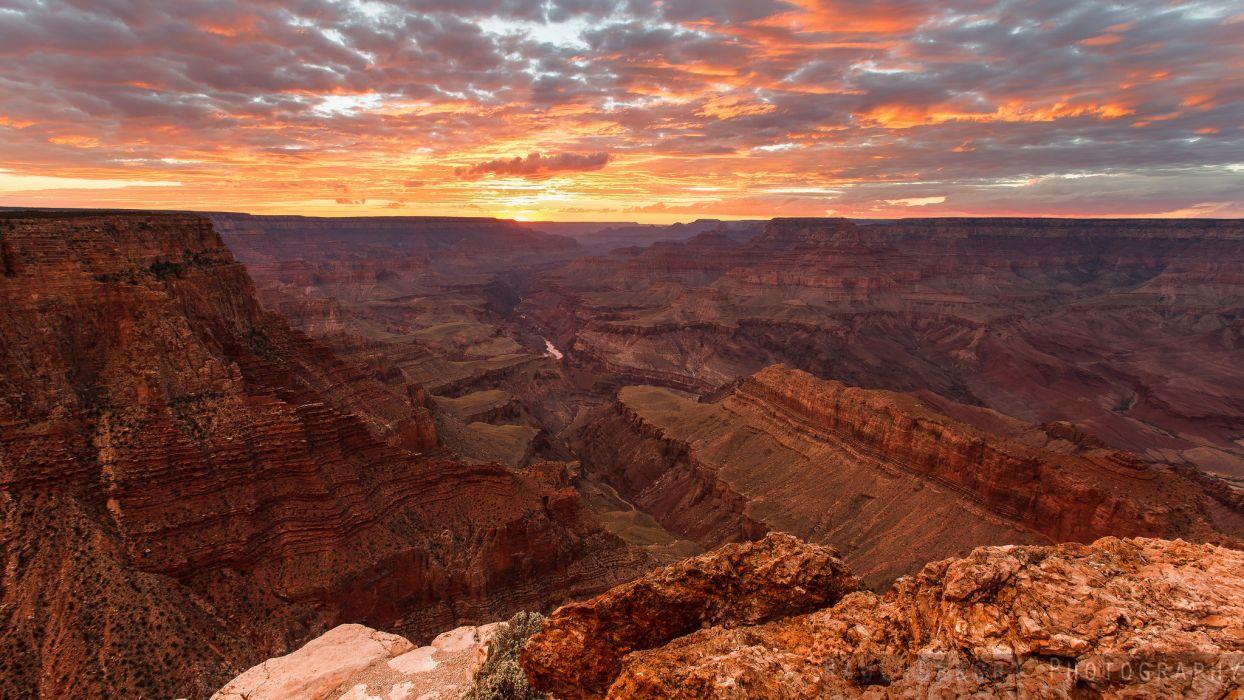 USA Scenery Grand Canyon Canyon Horizon Nature wallpaper