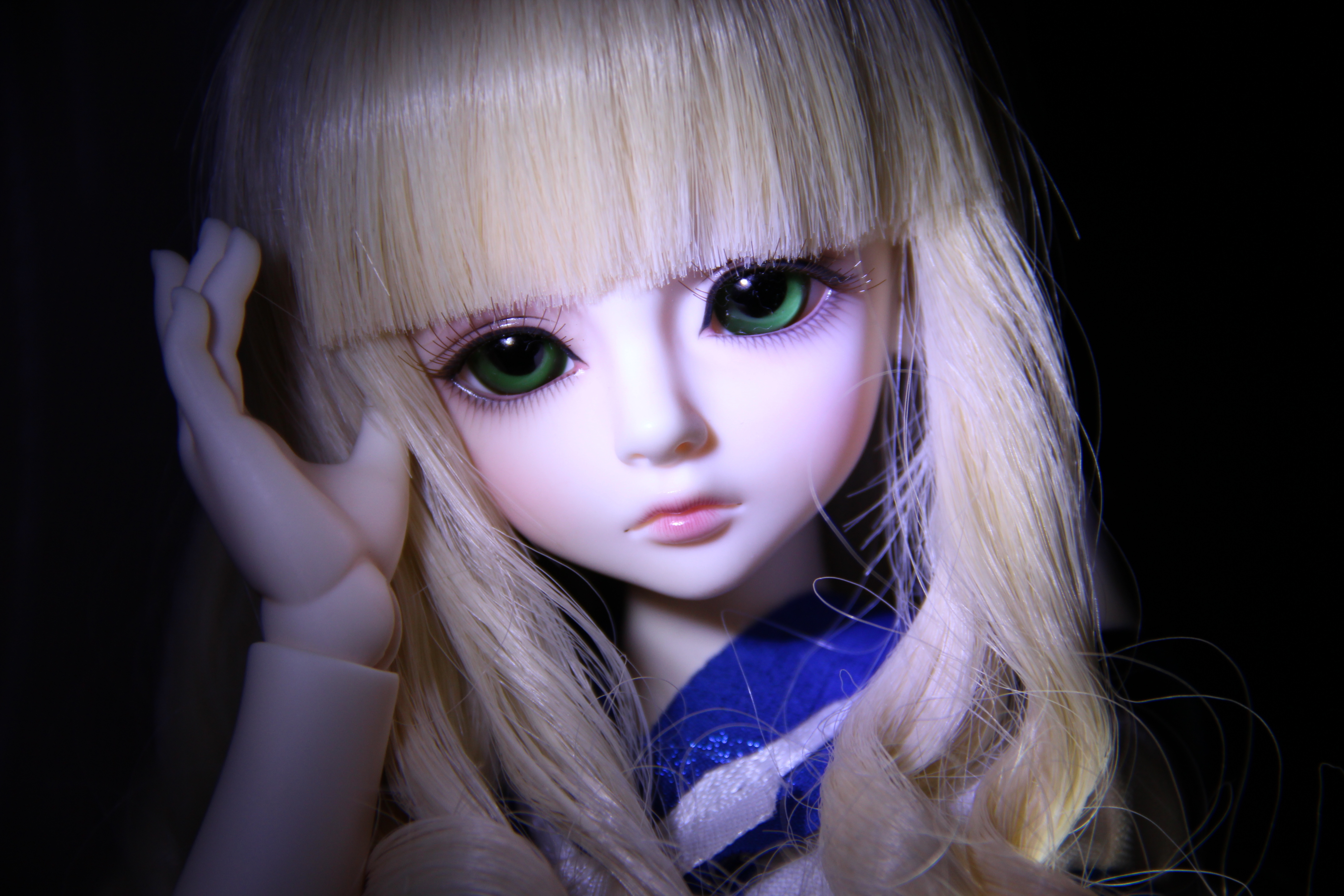 Toys Eyes Doll Face Blonde Girl Hair Little Girls