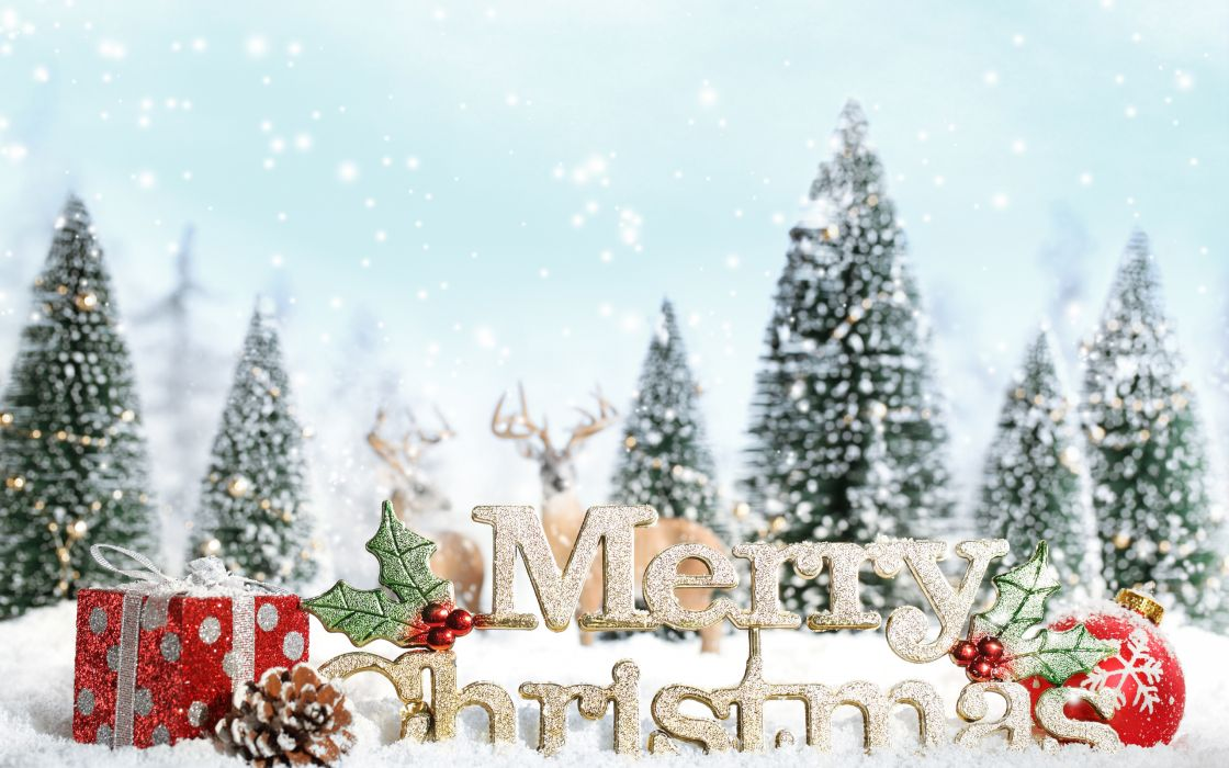 tree snowflake new year merry christmas wallpaper