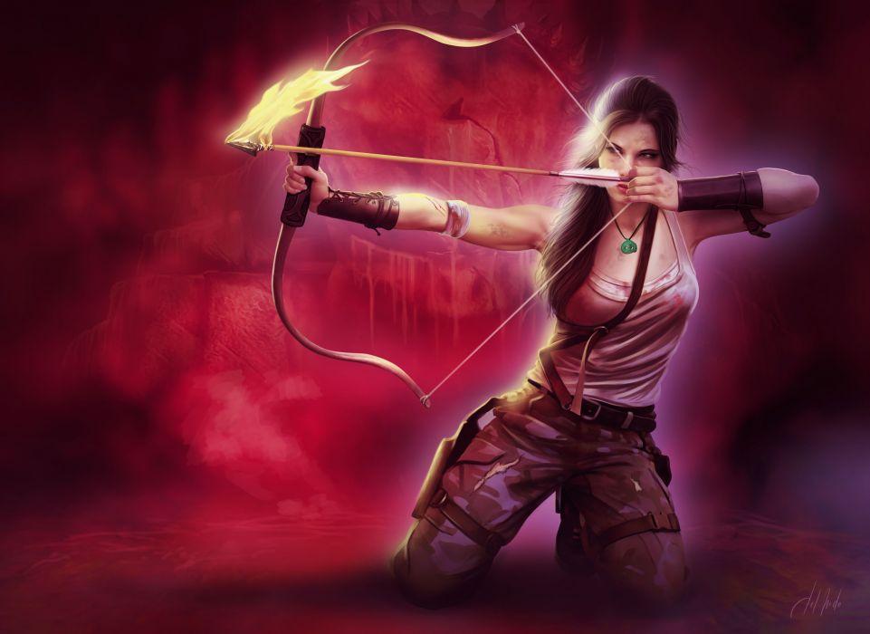 Tomb Raider 2013 Archers Warriors Lara Croft Singlet Games Girls wallpaper